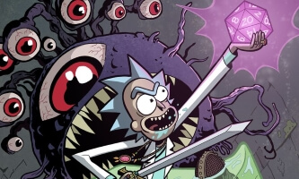 Patrick Rothfuss - Rick & Morty Comic